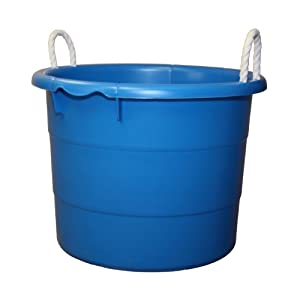 Plastic Laundry Tub : Amazon.com - Plastic Utility Tub, 19 Gallon, Blue, Integrated Rope ...