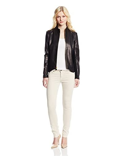 T Tahari Women's Riva Leather Jacket