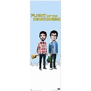 (24x60) Flight of the Conchords (Bret McKenzie & Jemaine Clement, New York City Skyline, Door) TV Poster Print