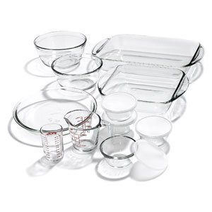 Anchor Hocking Kitchen Starter 15-Pc. Glass Bakeware Set