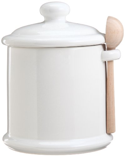 Canister M wooden spoon with white CP-05M WH (japan import)