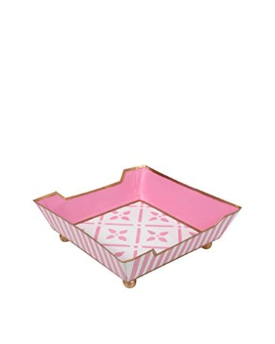 Jayes Flora Cocktail Napkin Tray, Pink