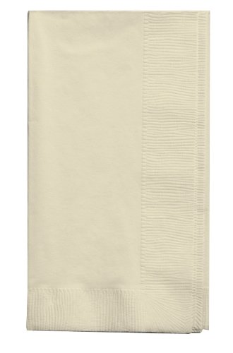Creative Converting Touch of Color 2-Ply 50 Count Paper Dinner Napkins, Ivory