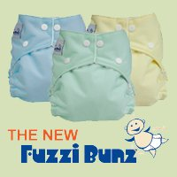 12 Pack Fuzzi bunz Cloth Diapers-BOY Colors LARGE [Health and Beauty]