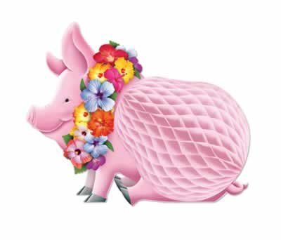 Luau Pig Centerpiece Tissue (1 per package)