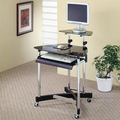Buy Low Price Comfortable Desks Computer Desk with Casters by Coaster (B0051PC2CS)