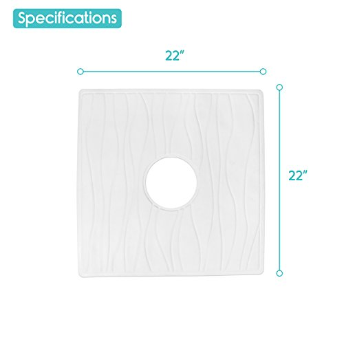 shower mat by vive square bath mat with drain hole non