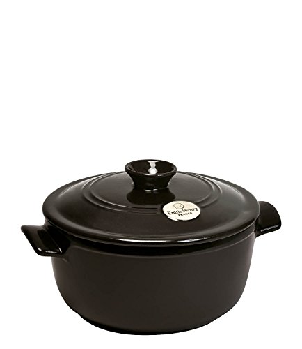 Emile Henry Made In France Flame Round Stewpot Dutch Oven, 7 quart, Charcoal (Flame Broiler Oven compare prices)