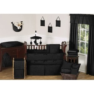 JoJo Designs Diamond Black Bedding: Diamond Black Musical Mobile - 1