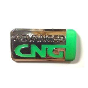 CNG Auto Car Emblems Accessories By Chrome Emblem 3D Badge 3M Adhesive
