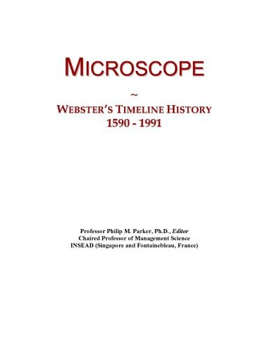 Microscope: Webster'S Timeline History, 1590 - 1991