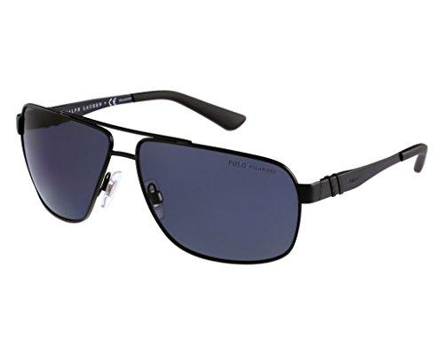 Polo PH3088 903881 Matte Black/Polarized Gray Sunglasses Bundle-2 Items
