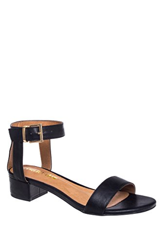 Blair Ankle Strap Low Heel Sandal