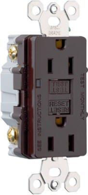 Pass & Seymour Gfci Receptacle 15 Amp 125 V Brn Feed Thru Ul