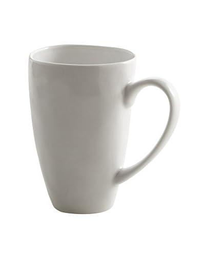 zestt Sculptured 12-Oz. Mug, White