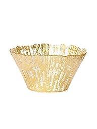 VIETRI RUFFLE GLASS Gold small deep bowl