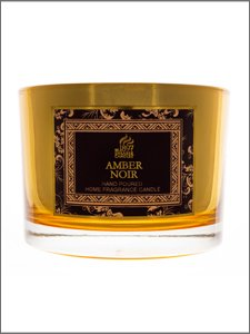 AMBER NOIR - Shearer Candles - Gold Mirror Multi Wick Jar from Shearer Candles