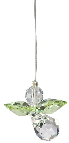 Woodstock Rainbow Makers Birthstone Crystal Guardian Angel Suncatcher, August Peridot