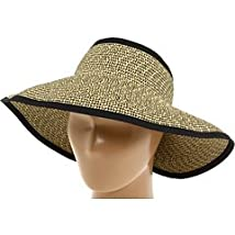 San Diego Hat Women's Roll-up Sun Visor Black/Multi One