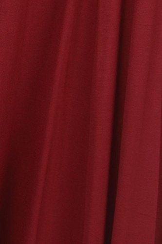 Modern Kiwi Long Sleeve Flowy Maxi Plus Size Dress Burgundy 3X