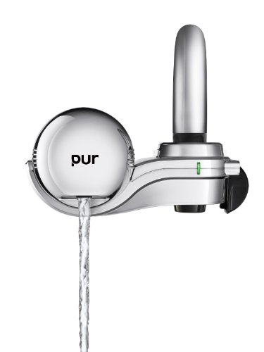 PUR 3-Stage Horizontal Faucet Mount Chrome + PUR MineralClear Faucet Refill 2 Pack (Faucet  Filter, Chrome) (Pur Chrome compare prices)