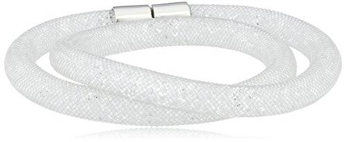Swarovski - 5089840, Bracciale con vetro donna, bianco, 40 centimeters