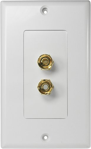 Osd Audio Wp2 2 Terminal Speaker Decora Binding Post Wall Plate
