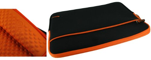 rooCASE Wonderful Bubble Neoprene (Orange / Black) Sleeve Containerize for Sony VAIO VPC-Z112GX/S 13.1-Inch Laptop