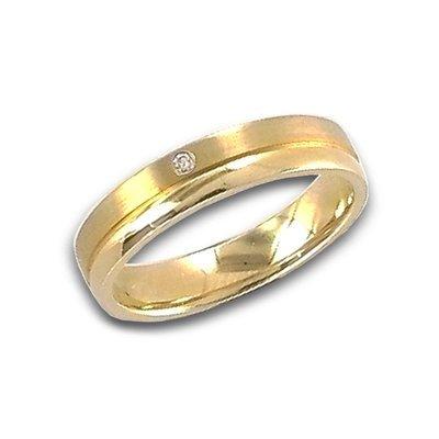 Damen Ring Brillant 14K 585 Gelbgold W53 schenken