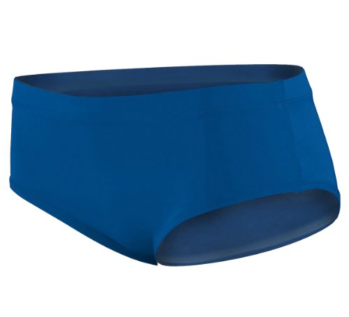 Augusta Sportswear Girl'S Elastic Waistband Brief Panties, Royal, X-Small front-1059614
