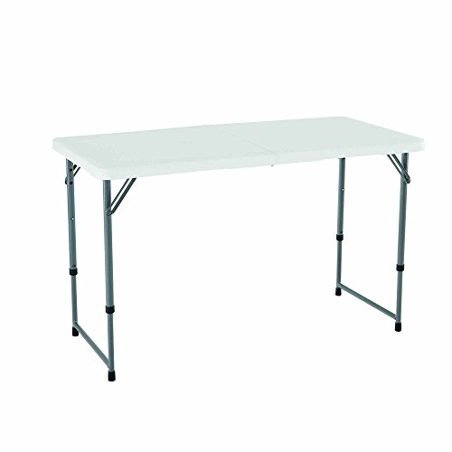 Lifetime 4428 Height Adjustable Folding Utility Table 48 By