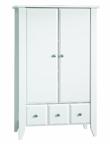 Child Craft Shoal Creek Ready-to-Assemble Armoire, Matte White