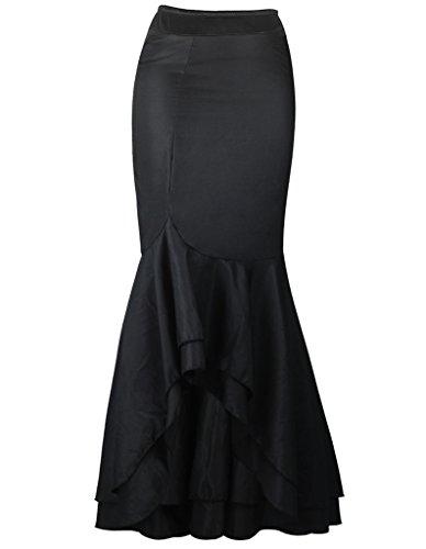 burvogue-mujer-steampunk-faldas-de-sirena-vintage-larga-ruffle-delgada-negro-negro-xxx-large