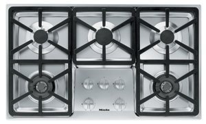 Miele : KM3474G 36 Stainless Steel Gas Cooktop