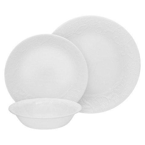Corelle Bella Faenza Dinnerware Set 18pc, White (Corelle 18pc compare prices)