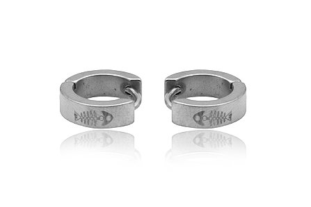 Stainless Steel Fashion Hoop Earring Men's Jewelry