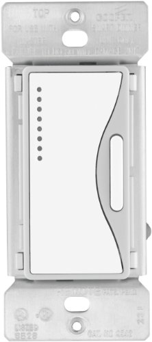 Cooper Wiring Devices 9542Ws-K 120-Volt, 60-Hertz Aspire Multi-Location Accessory Dimmer With Preset And Led, White Satin