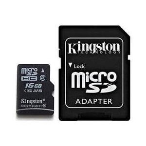 Professional Kingston MicroSDHC 16GB (16 Gigabyte) Card for Samsung Code with custom formatting and Standard SD Adapter. (SDHC Class 2 Certified)