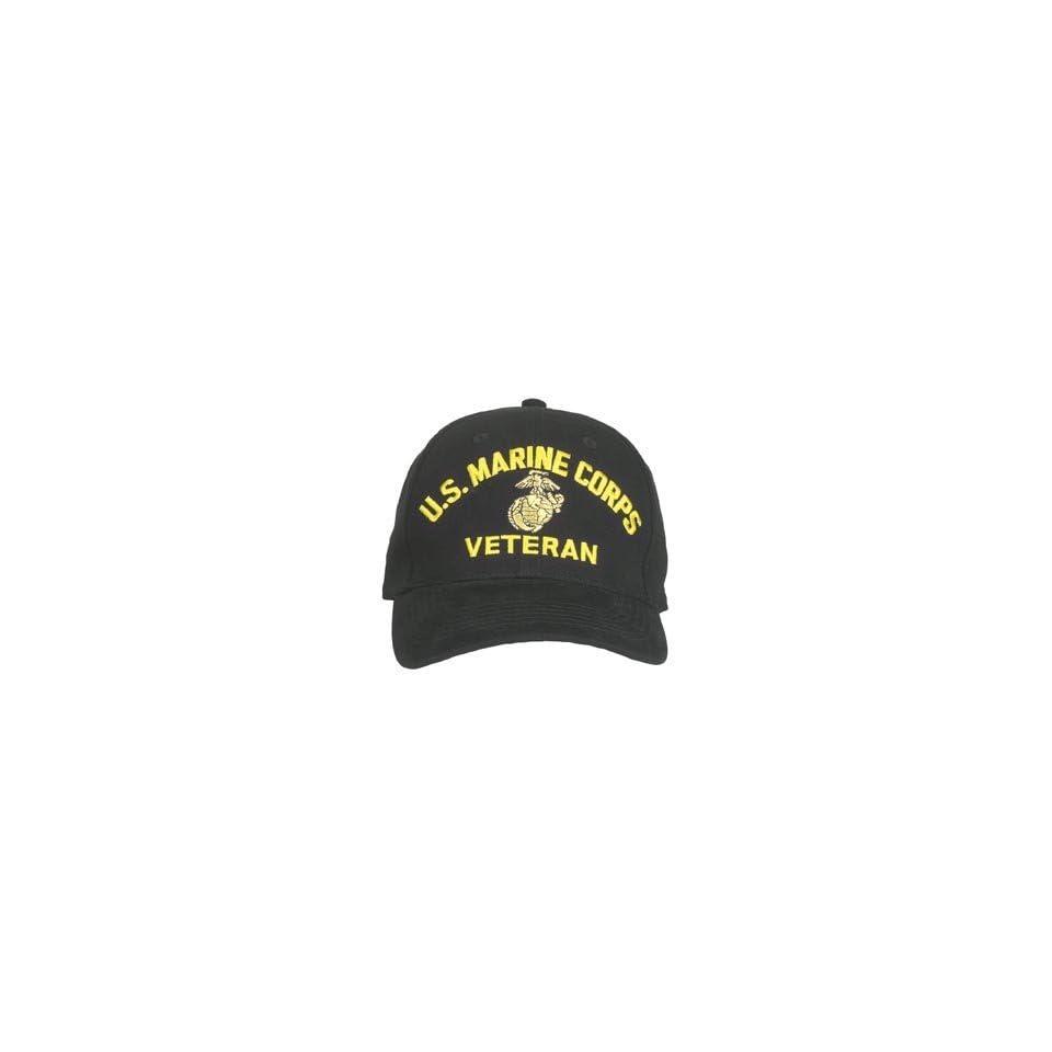 Rothco Low Profile Cap/Usmc Vet   Black