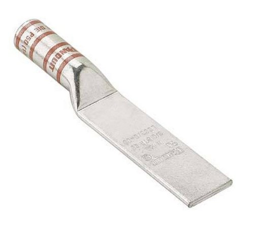 """Panduit Lcc4-00-L Code Conductor Lug, Blank Tongue, Long Barrel, #4 - #3 Awg Str, #2 Awg Sol Copper Conductor Size, Gray Color Code, 1-1/8"""" Wire Strip Length, 0.16"""" Tongue Thickness, 0.75"""" Tongue Width, 1.13"""" Neck Length, 5.06"""" Overall Length"""