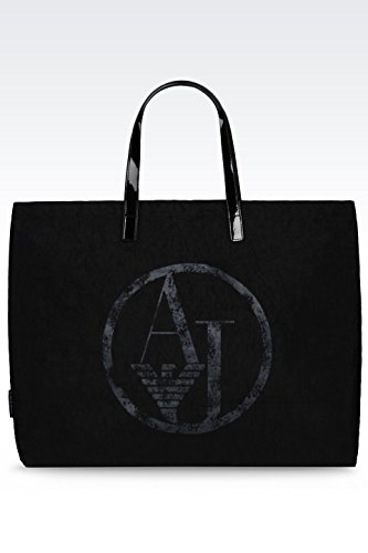ARMANI JEANS NYLON SHOPPING BAG C522XU4-12 NERO - BLACK