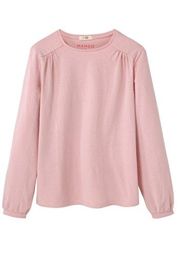 mango-kids-t-shirt-mit-t-shirts-armelumschlag-size11-12-jahre-colorhelllila-pastelllila