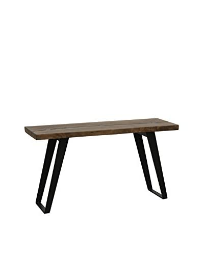Tottenham Court Rillia Console Table, Dark Walnut/Black