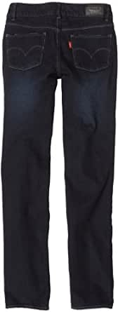 Levi's Big Girls' Regs 1265 Slim Straight Jean, Blackbird, 14 Regular