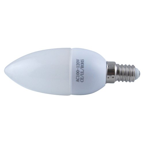 Thg 1X 100-120V 3W E14 Chandelier Candle Light Bulb Lamp Lighting 5500K Cool White Energy Saving Plastic Shell House Hallway Decoration front-836267