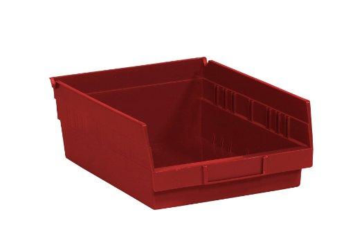 Aviditi BINPS105R Plastic Shelf Bin Boxes, 11 5/8