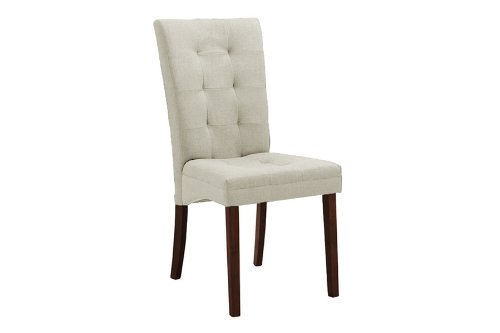 Anne Beige Fabric Modern Dining Chair with Chanasya Polish Cloth Bundle (Set of Two)