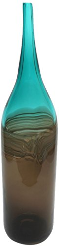 design-toscano-catori-20-inch-hand-blown-glass-vase-medium-blue