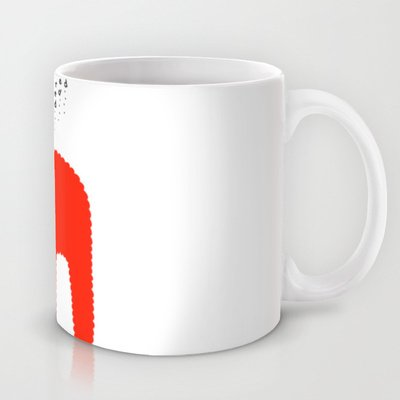 Society6 - Red Bunny Yeti Coffee Mug By Ziqi
