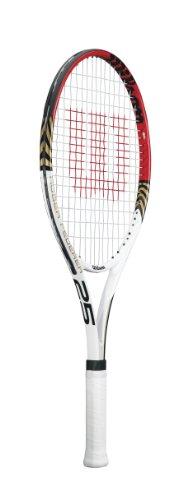 Wilson Kids Roger Federer 25 Tennis Racquet - White/Red, 25 Inch